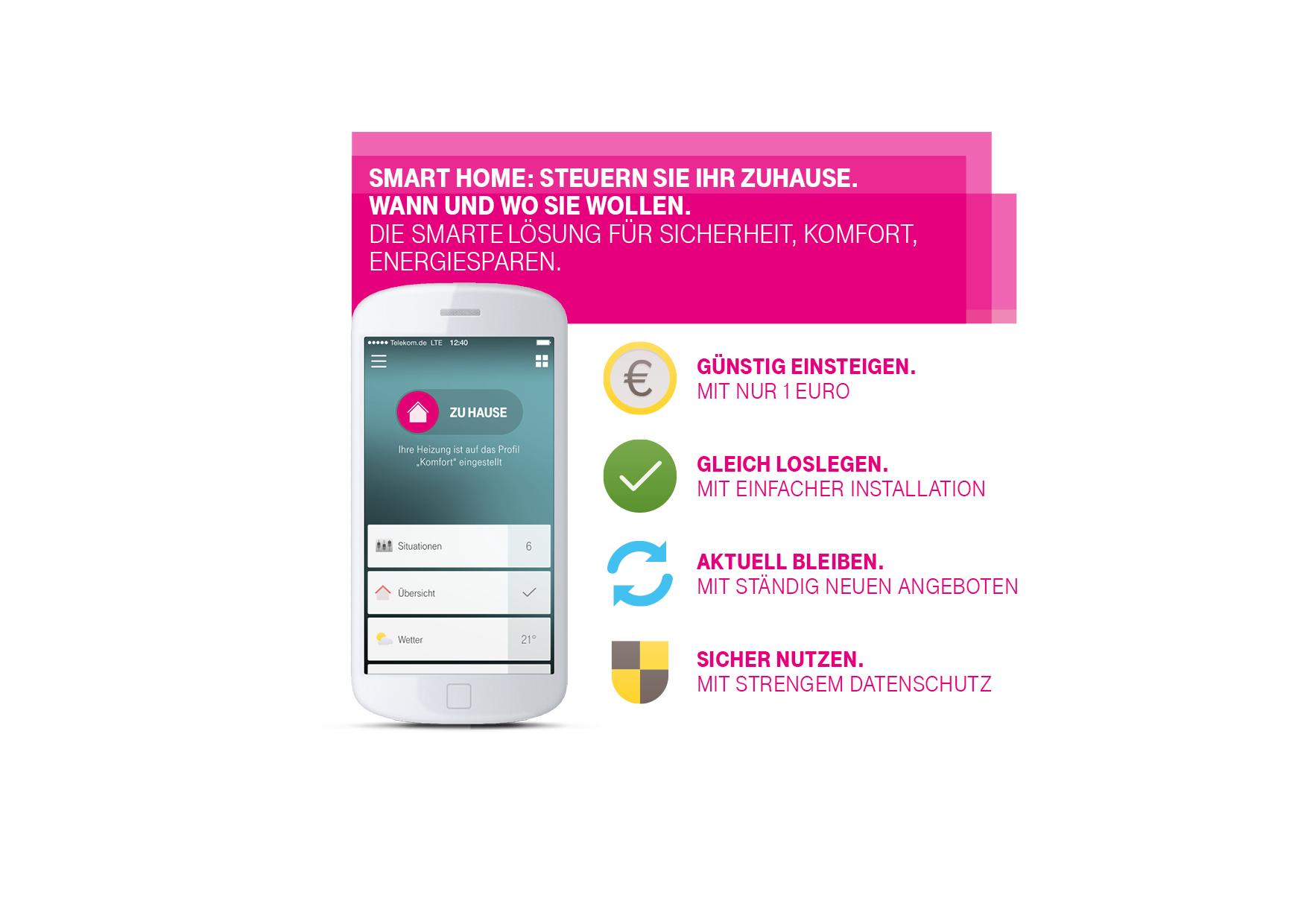 telekom bietet g nstigen einstieg in smart home deutsche telekom. Black Bedroom Furniture Sets. Home Design Ideas