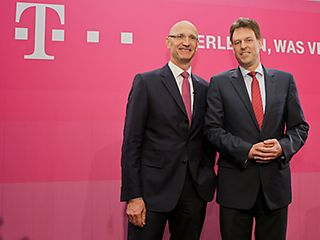 Annual report 2013: Tim Höttges (l.) and Thomas Dannenfeldt