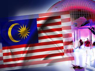 Illustration for NatCo in Malaysia with country flag.
