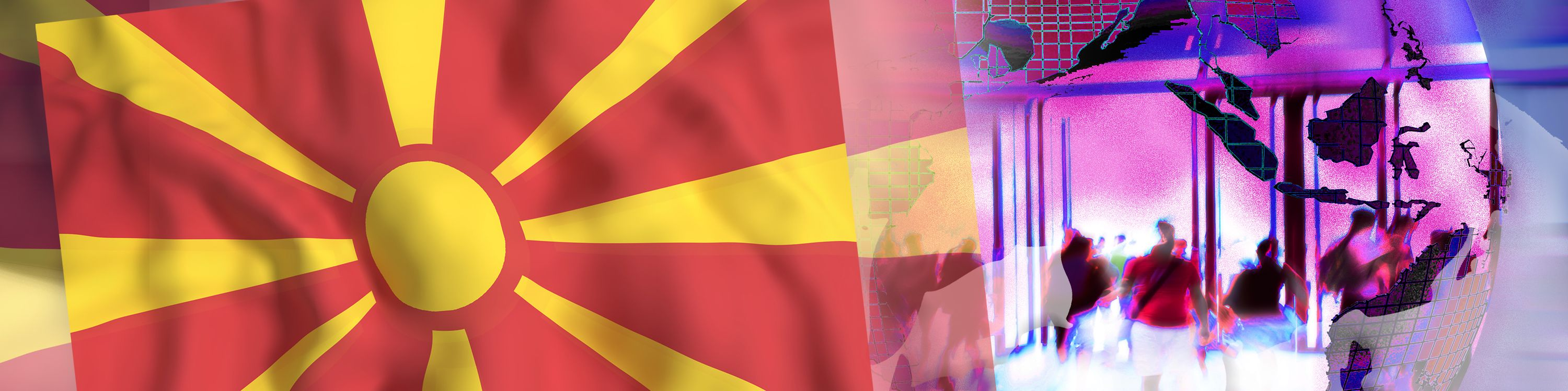 Illustration for NatCo in Macedonia with country flag.