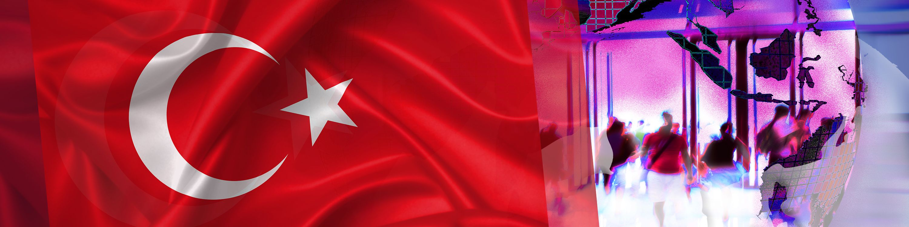 Illustration for NatCo in Turkey with country flag.