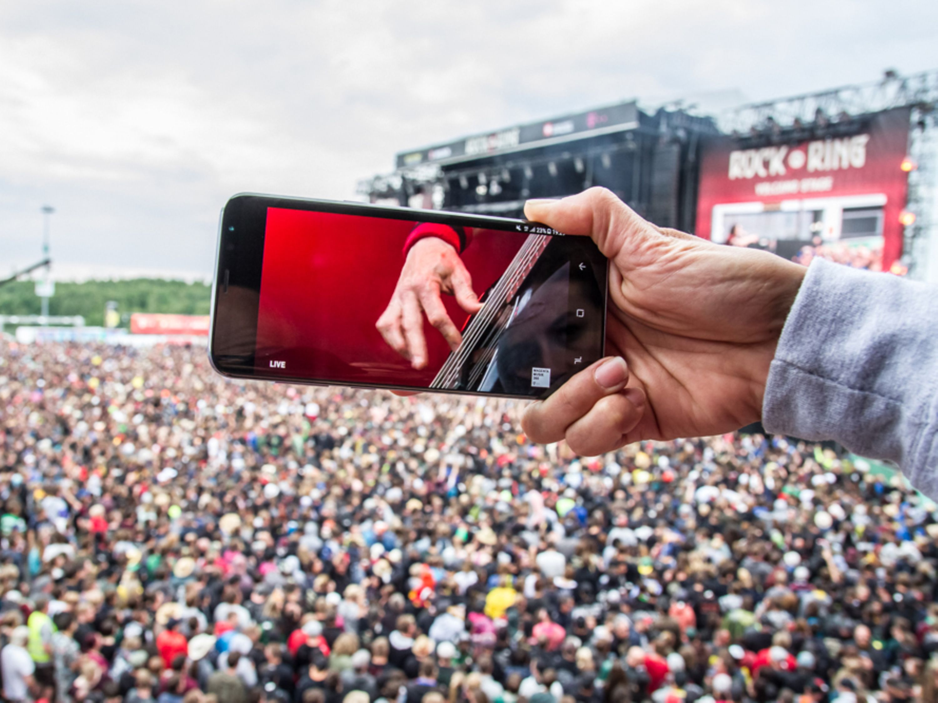 Handystream bei Rock am Ring 2017