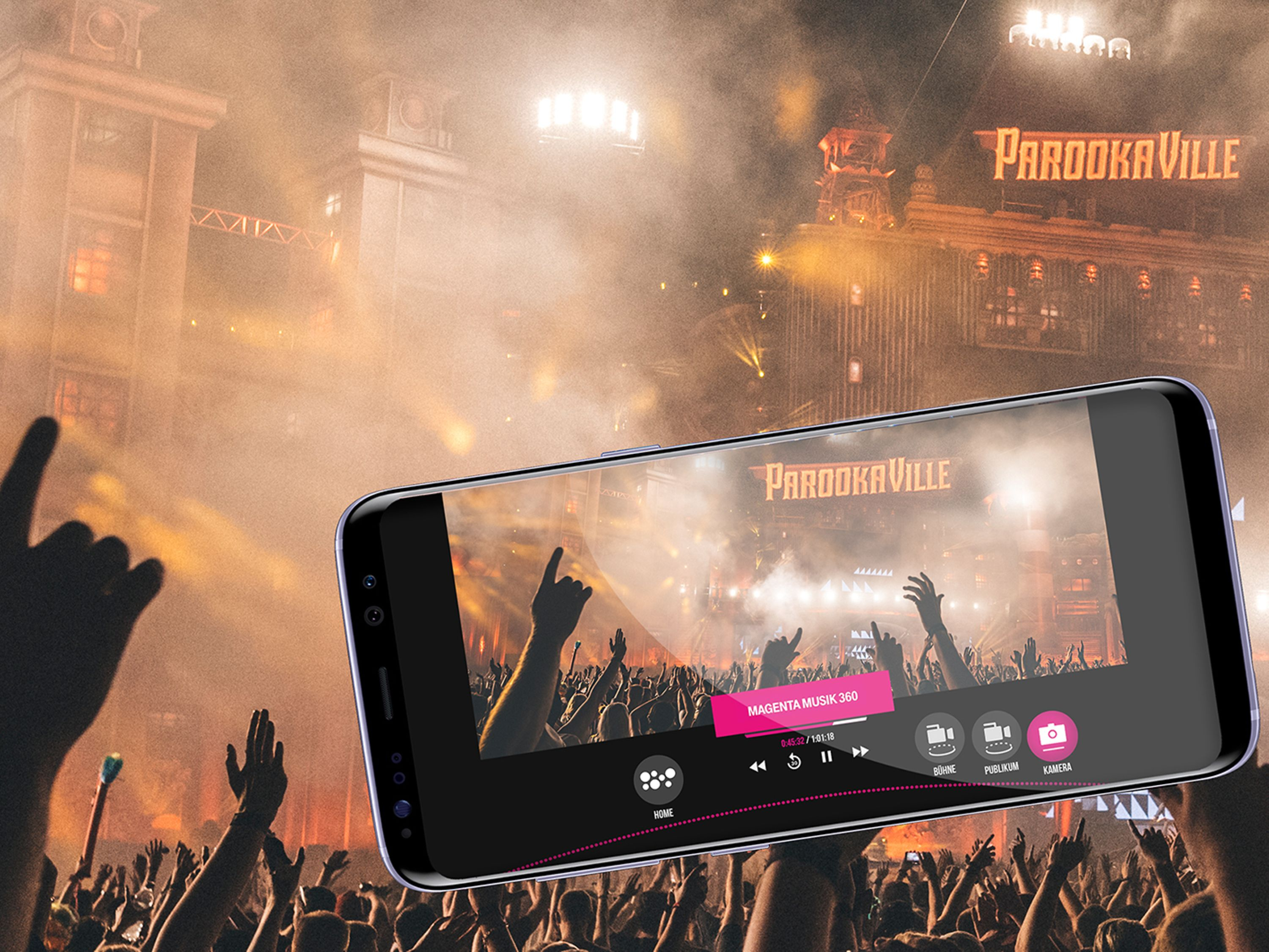 MagentaMusik 360 will broadcast exclusive sets from top DJs at Parookaville in live stream and 360°.