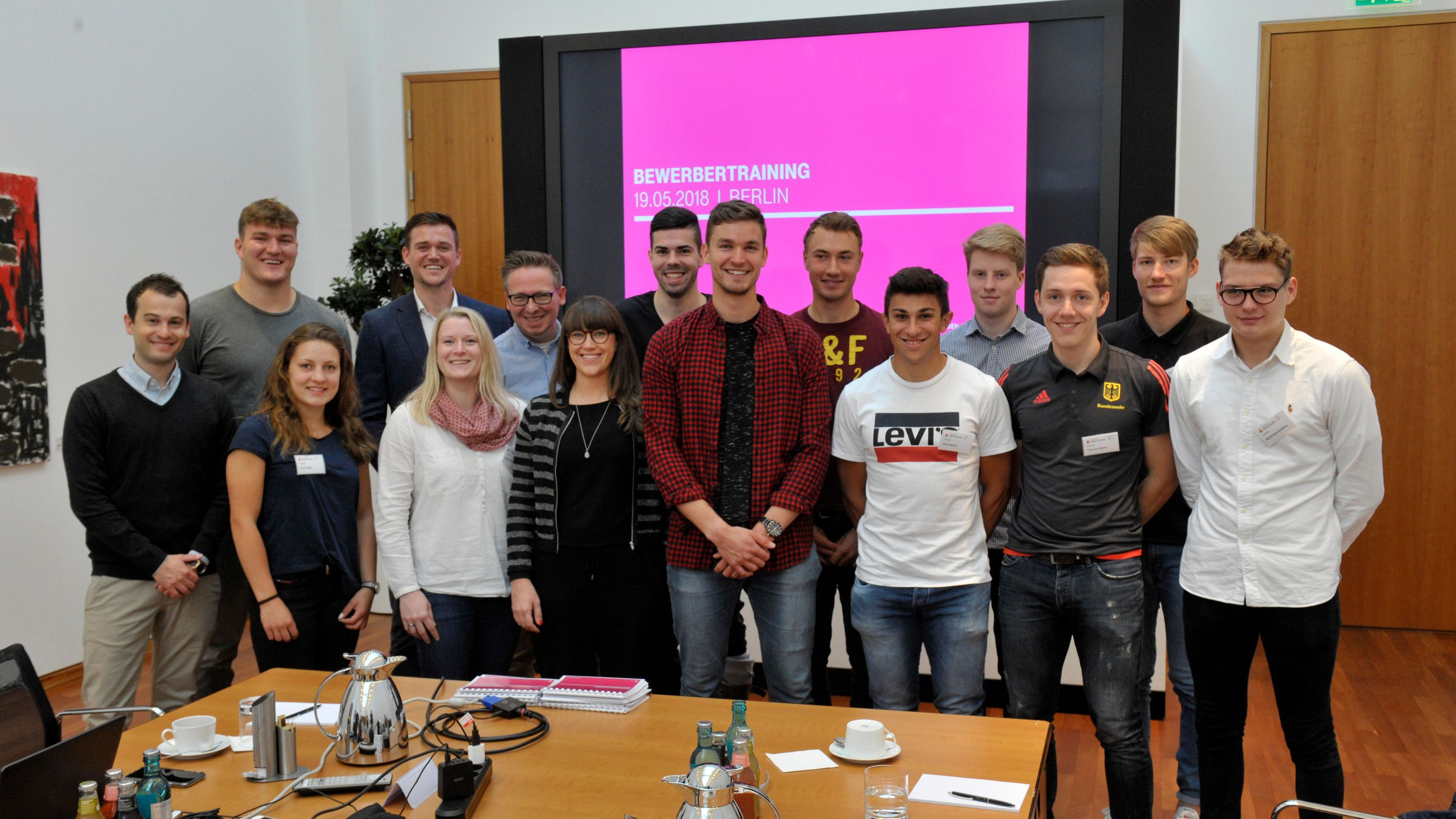 The participants of the application training session at Deutsche Telekom's Berlin Representative Office.