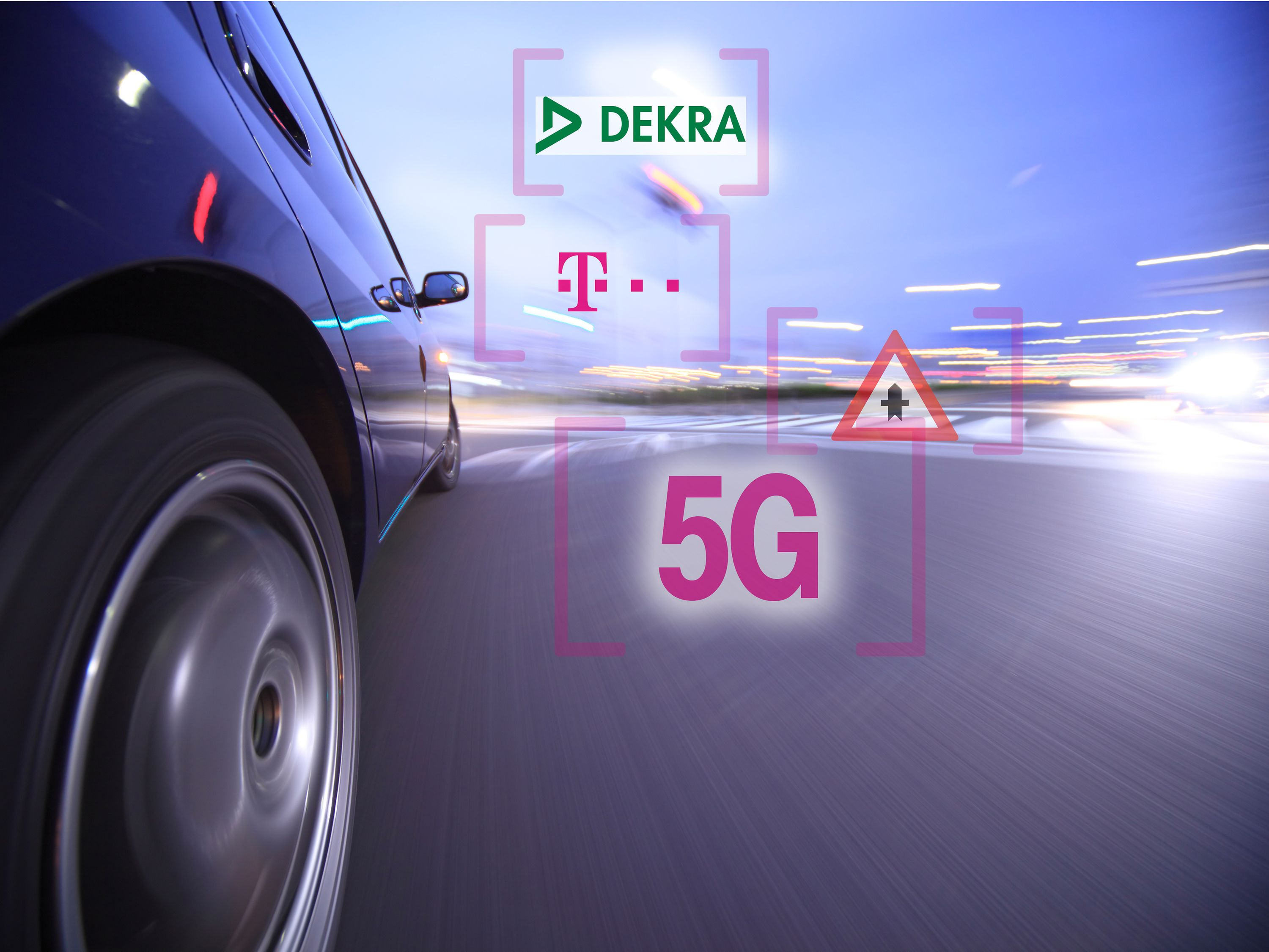 Deutsche Telekom and DEKRA test 5G for connected mobility.