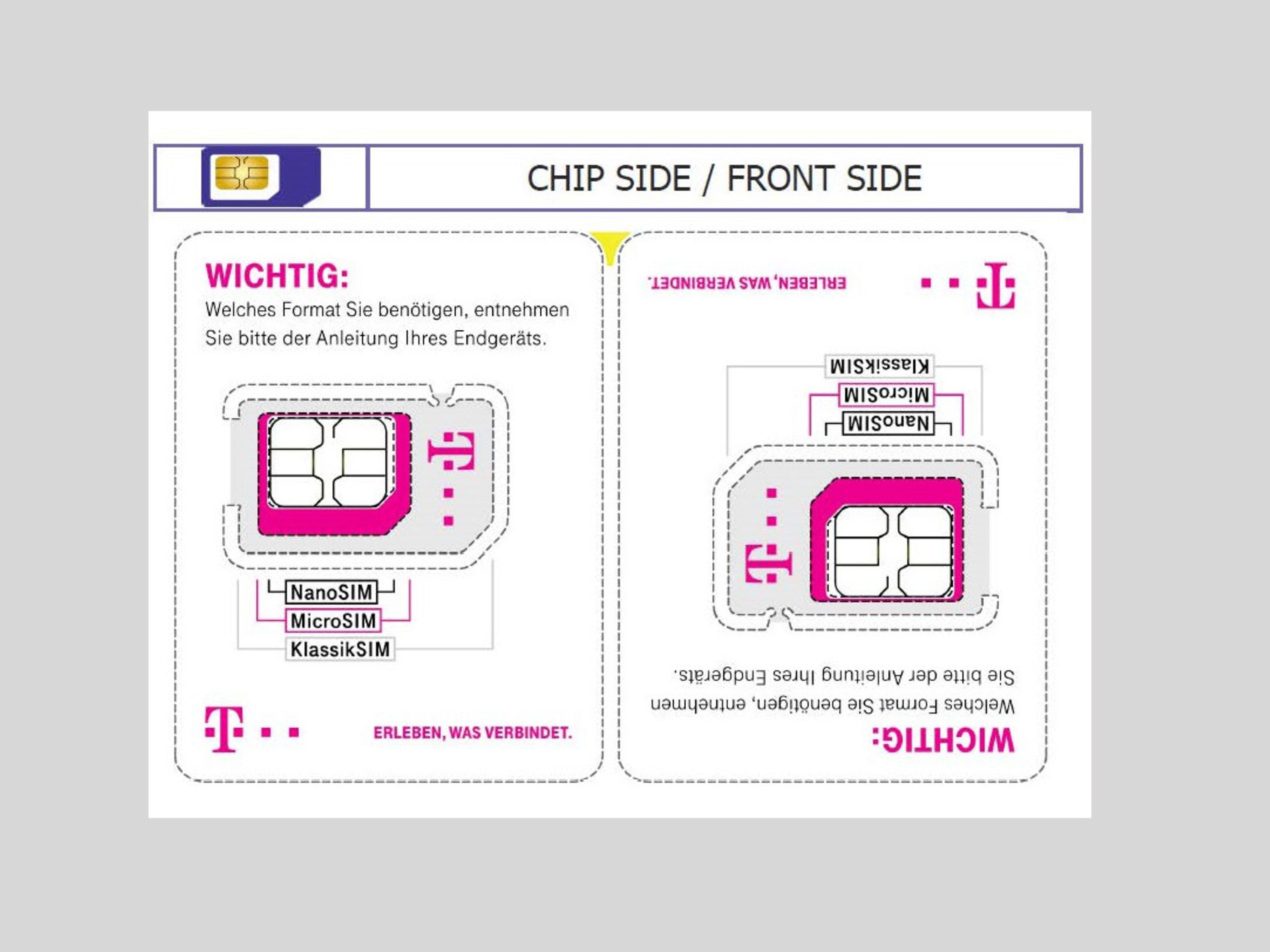 Less plastic waste: Telekom reduces SIM card size