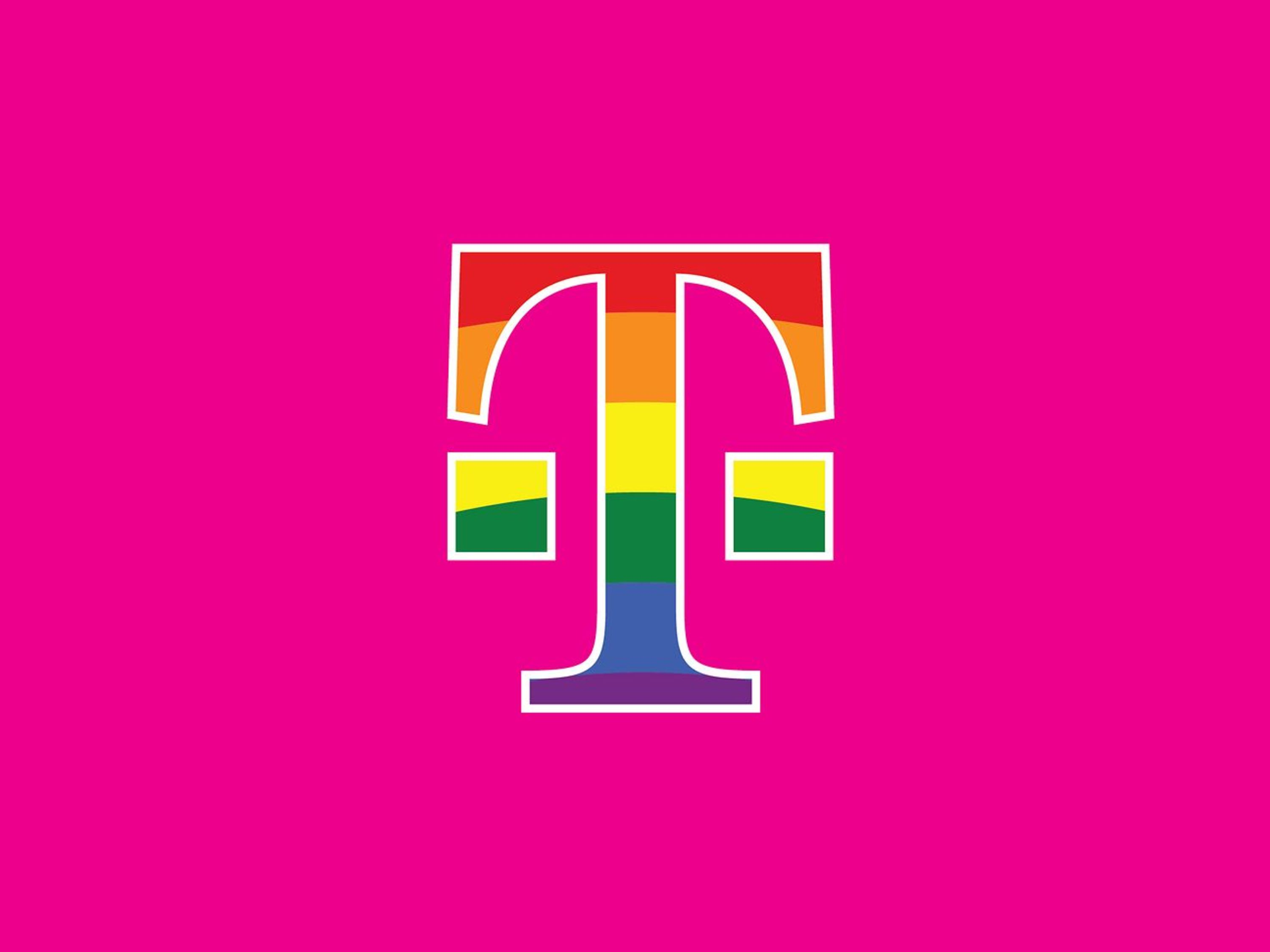 A vibrant T on a magenta background.