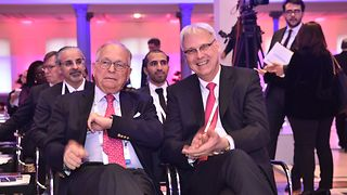 Chairman of the Munich Security Conference, Wolfgang Ischinger, and Telekom Board Member Thomas Kremer.
