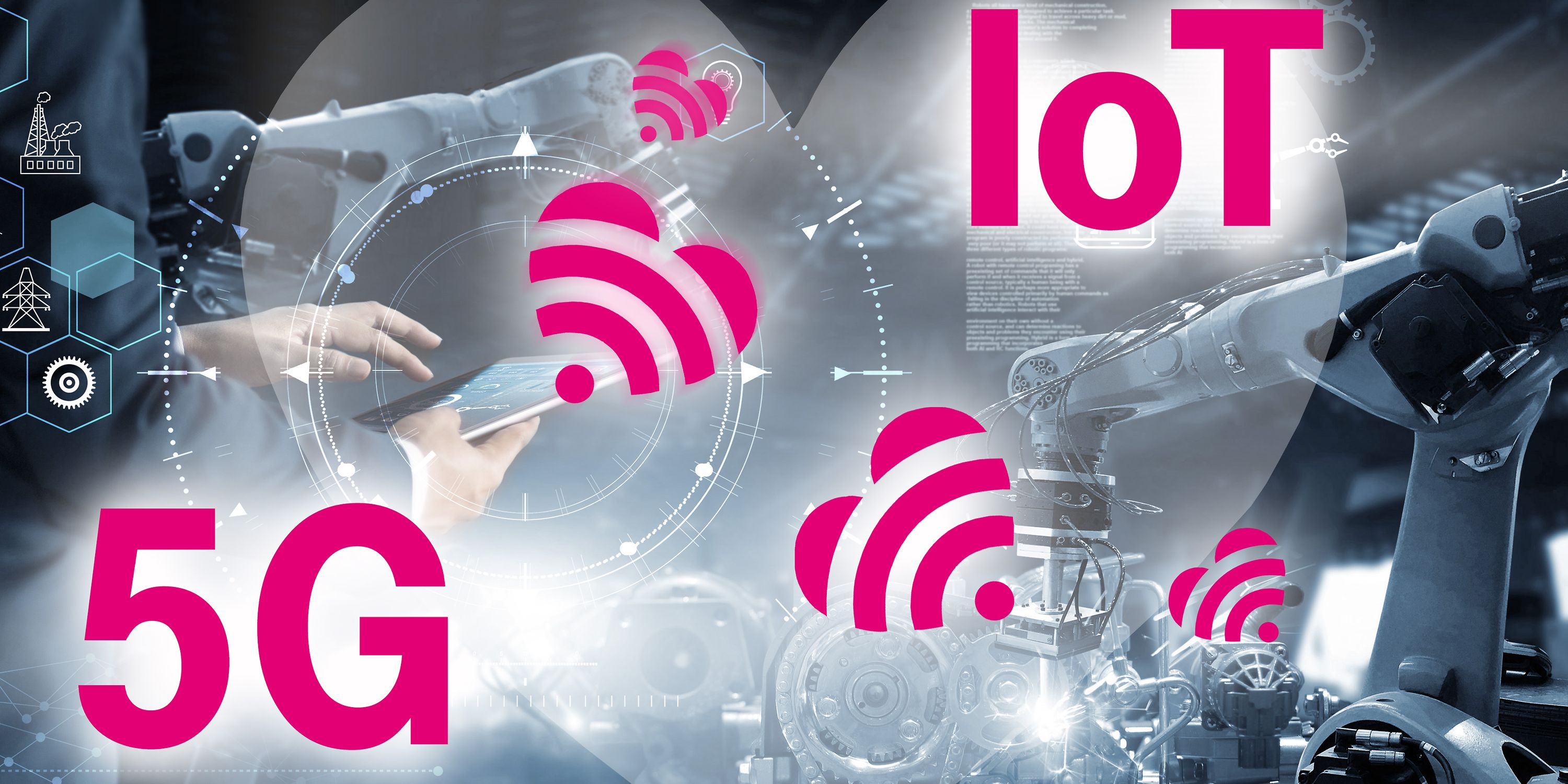 Love story digital: IoT and 5G connects devices, buildings, machines, vehicles, and goods.