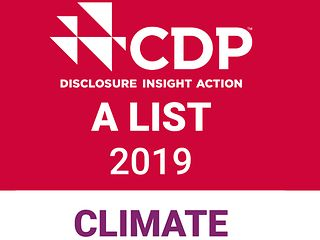 CDP climate A List Stamp 2019
