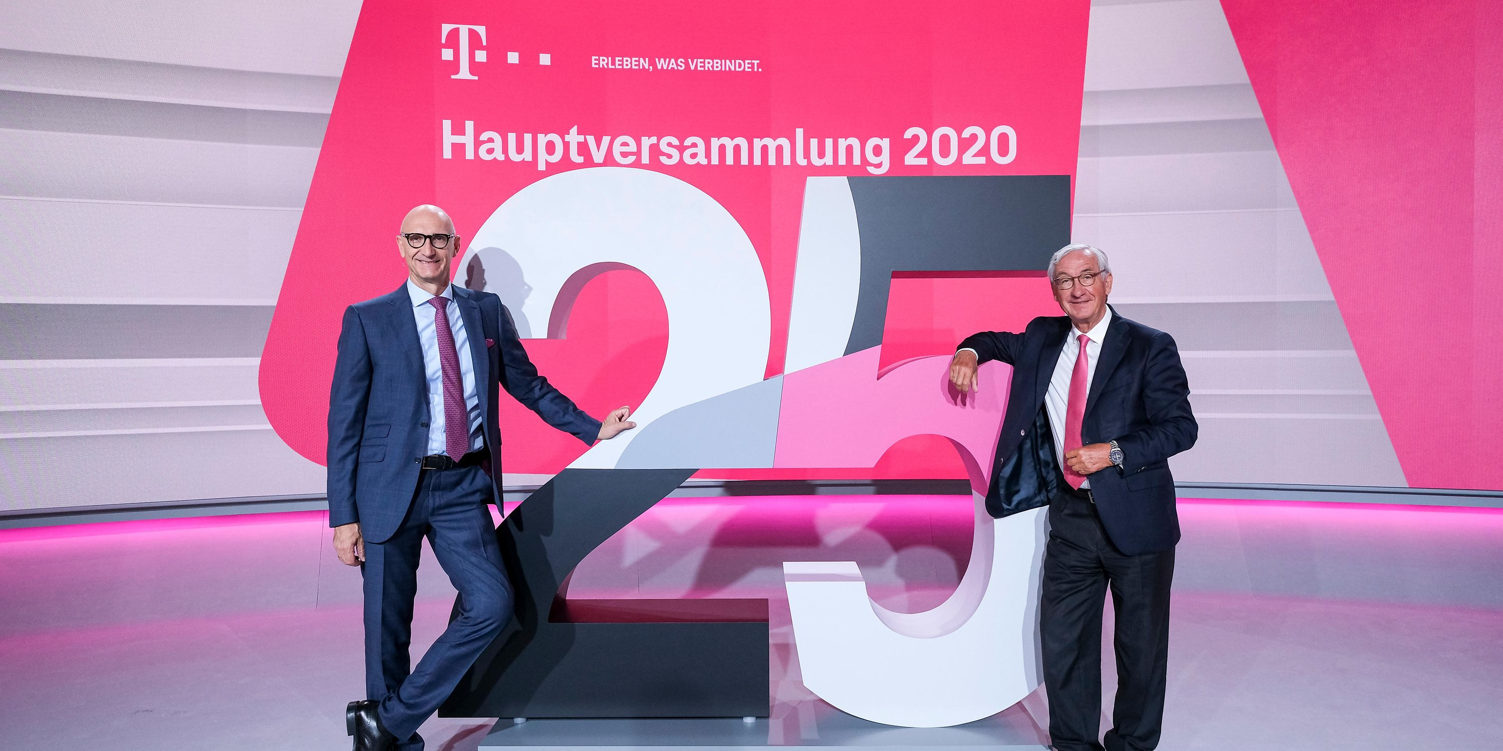 CEO Timotheus Höttges (left) and Ulrich Lehner, chairman of the supervisory board.