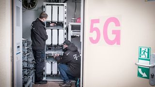 Deutsche Telekom technicians are upgrading the network to 5G.