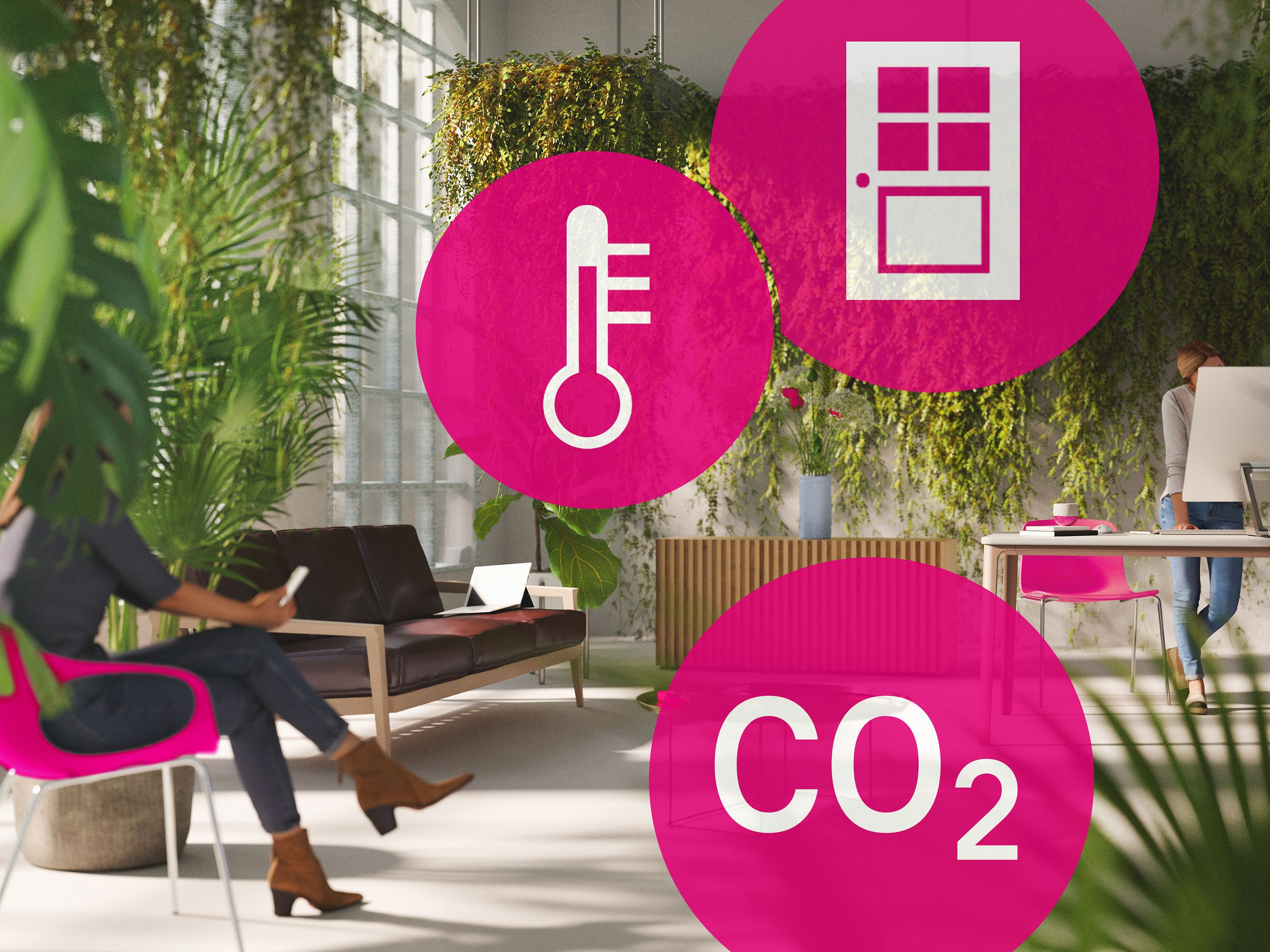 Managing buildings sustainably with Deutsche Telekom's Internet of Things (IoT).
