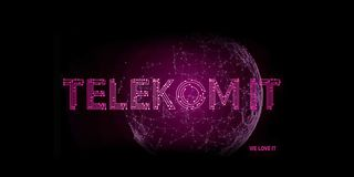 Magenta globe with the text Telekom-IT