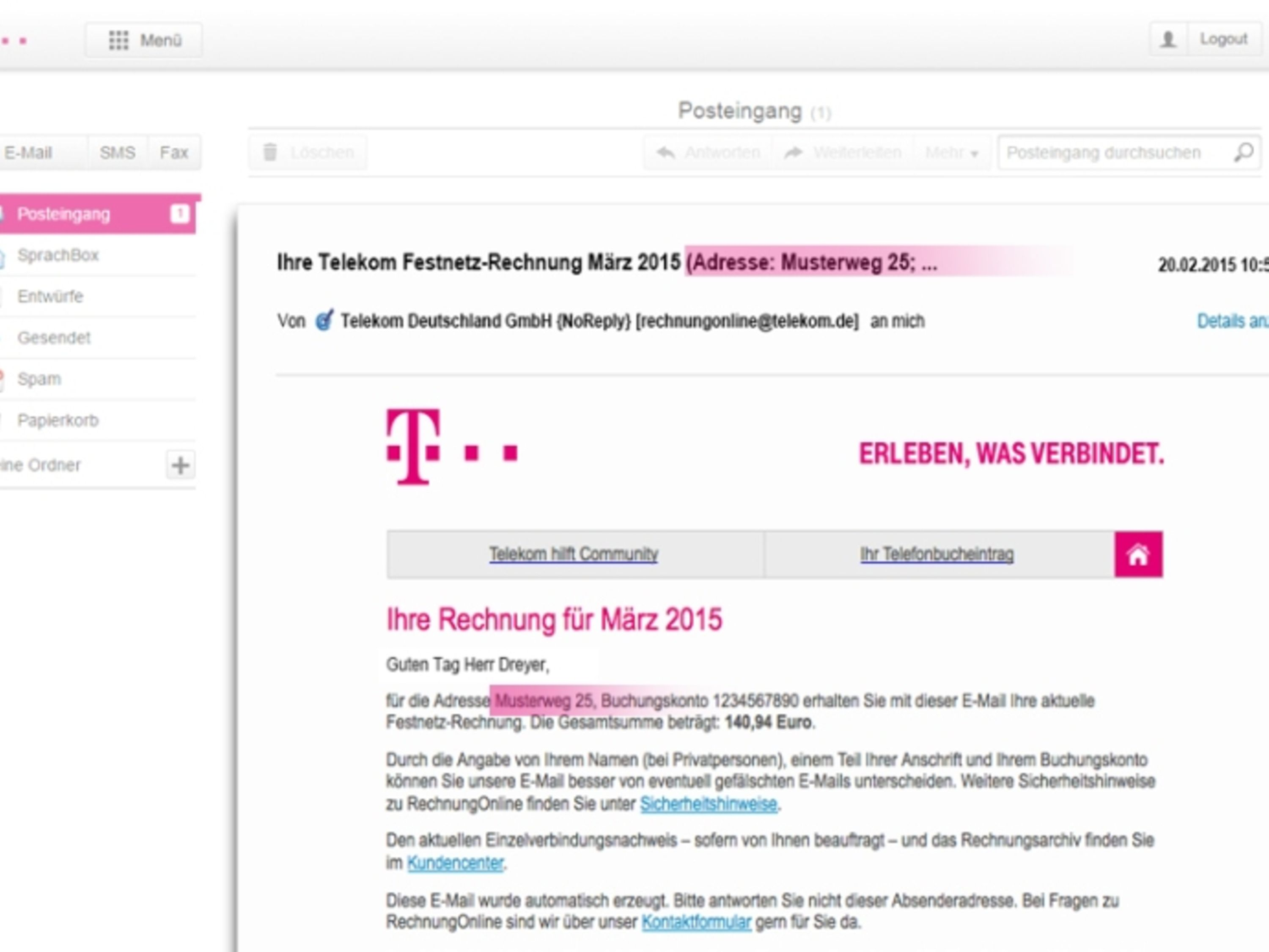 deutsche telekom so macht die telekom die rechnung online sicherer. Black Bedroom Furniture Sets. Home Design Ideas